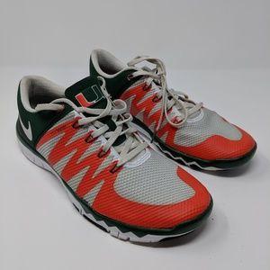 Nike University Of Miami Free Trainer 5.0 V6 sz 10